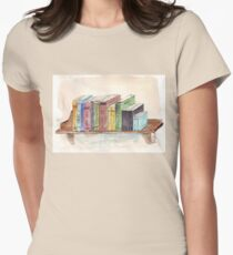 What's on my bookshelf Womens Fitted T-Shirt