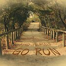 Find Yourself Go Run Motivational Dirt Road by Beverly Claire Kaiya