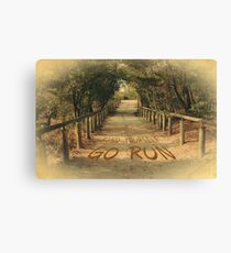 Find Yourself Go Run Motivational Dirt Road Canvas Print