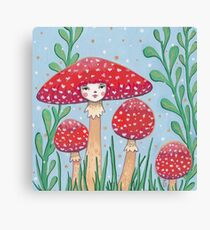 Uncommon Variety - Red Mushroom Canvas Print