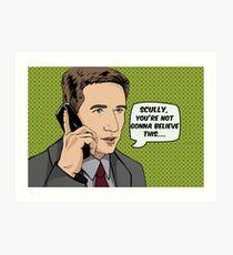 Pop Mulder Art Print