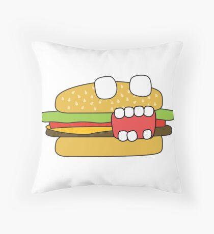 zombie cheeseburger Throw Pillow