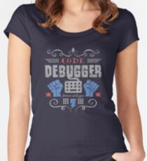 Code Debugger Women's Fitted Scoop T-Shirt