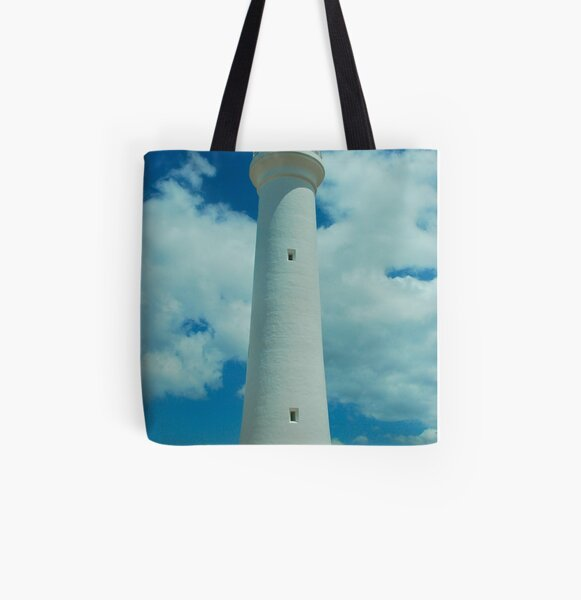 Split Point Lighthouse All Over Print Tote Bag