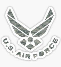 Air Force Camo Logo Sticker