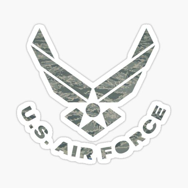 Air Force Camo Logo Sticker