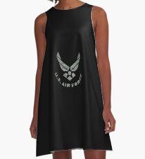 Air Force Camo Logo A-Line Dress