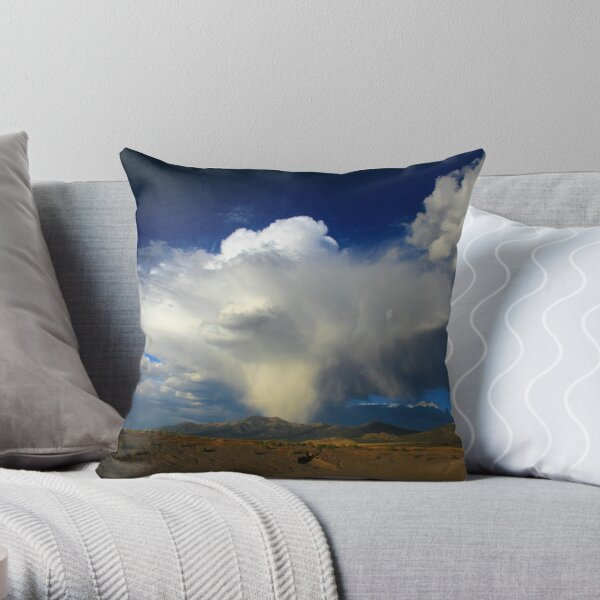 Thunderhead over Becky Peak - Nevada Throw Pillow