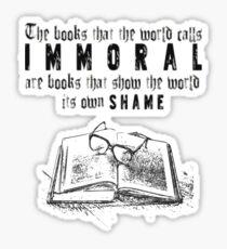 Dorian Gray - Immoral Books Quote Sticker