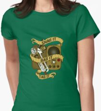 Snag It, Bag It, and Tag It! Womens Fitted T-Shirt