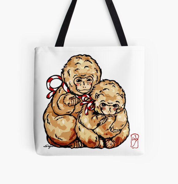 Welcome Monkey - Monkey see, Monkey do. Love and good luck All Over Print Tote Bag