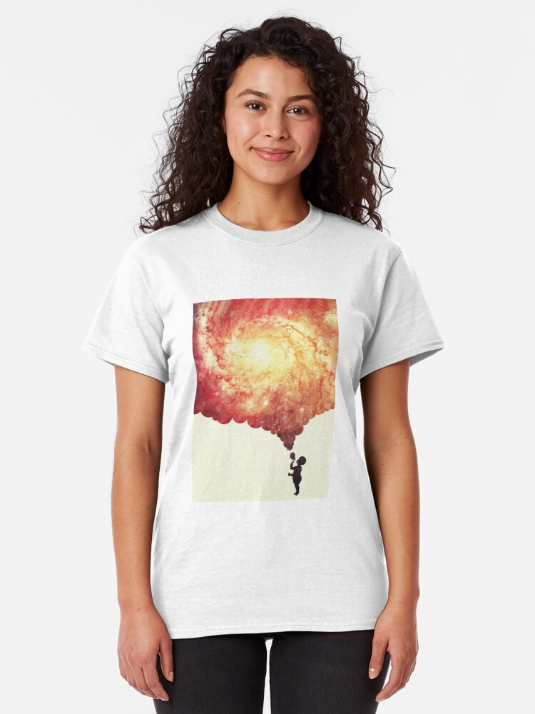 Alternate view of The universe in a soap-bubble! Classic T-Shirt
