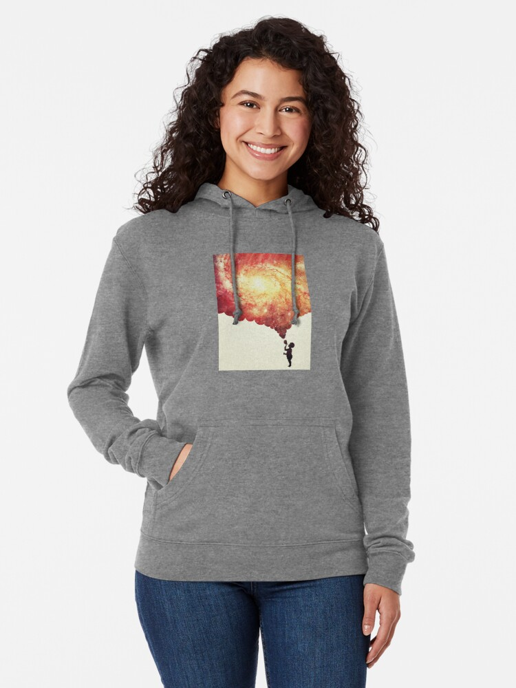 Alternate view of The universe in a soap-bubble! Lightweight Hoodie