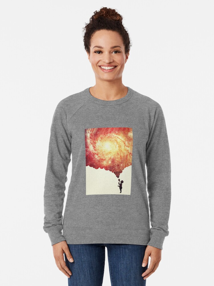 Alternate view of The universe in a soap-bubble! Lightweight Sweatshirt