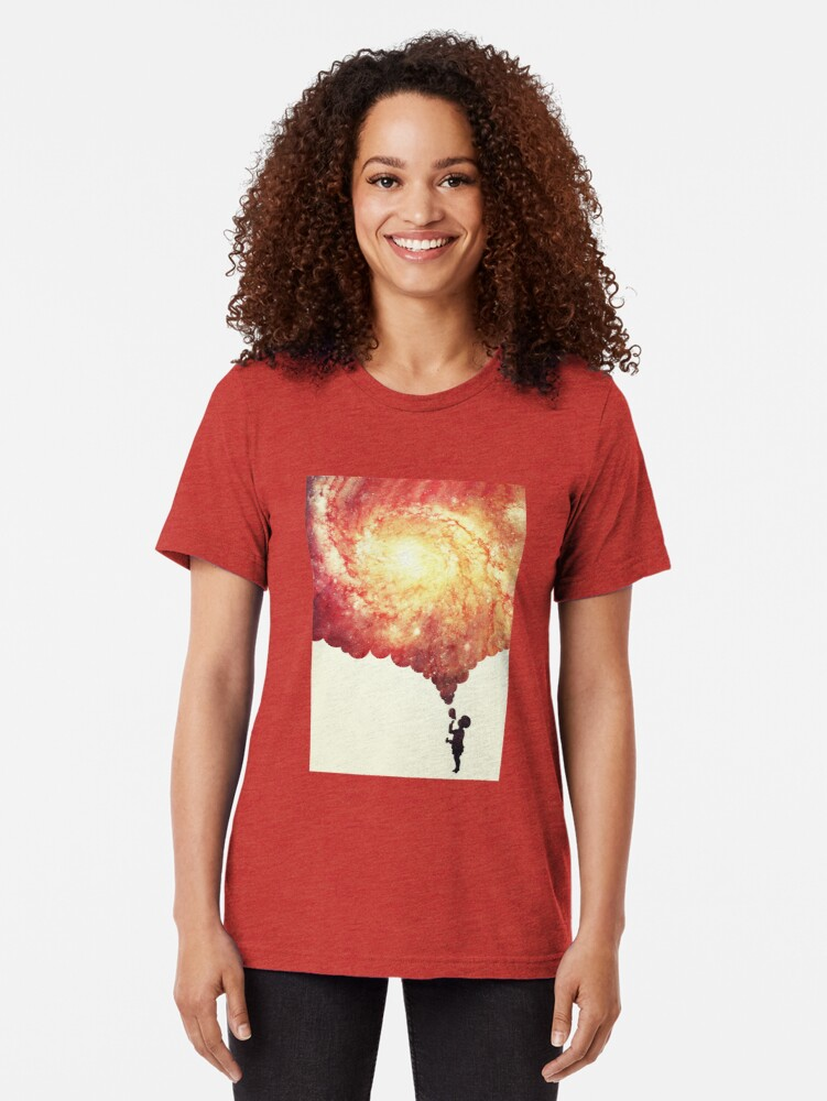 Alternate view of The universe in a soap-bubble! Tri-blend T-Shirt