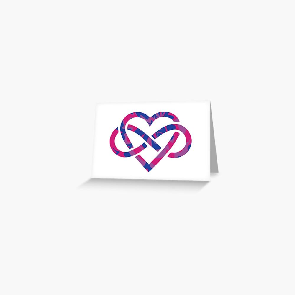 Bisexual Swirled Polyamory Infinity Heart  Greeting Card