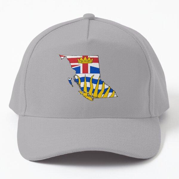 British Columbia Map with British Columbian Flag Baseball Cap