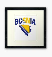 Bosnia flag Framed Print