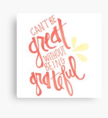 Grateful Canvas Print
