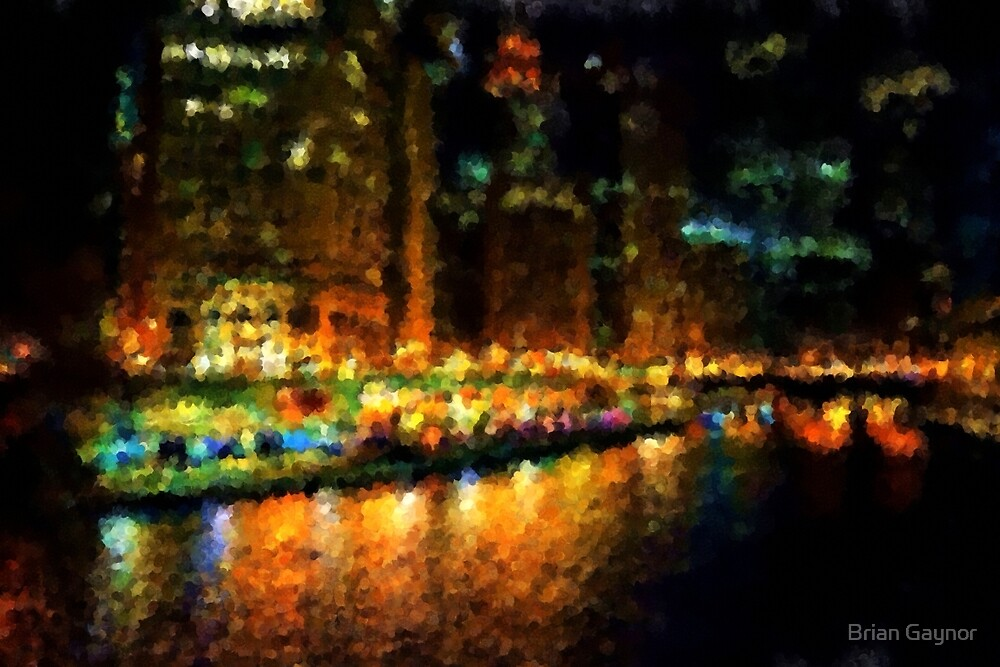 The Chicago River at Night by Brian Gaynor