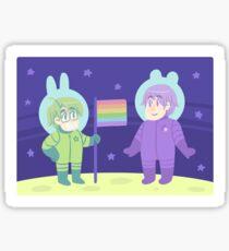 Space Gays Sticker Sticker