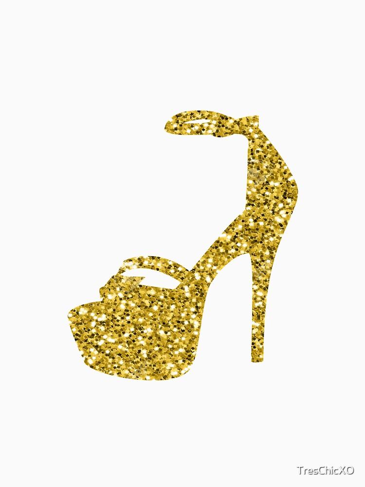 Gold Glitter Shoe by TresChicXO