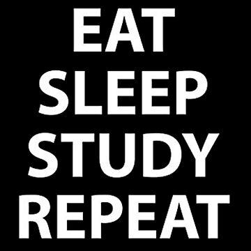 eat sleep study repeat by MillerHemsworth