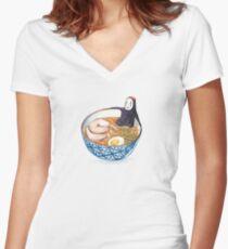 Spirit Ramen Bath Women's Fitted V-Neck T-Shirt