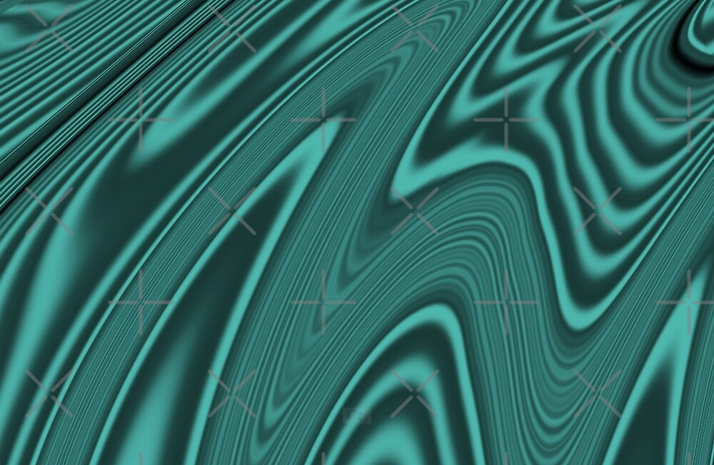 Abstract Fractal Colorways 03 Malachite Turquoise by charmarose
