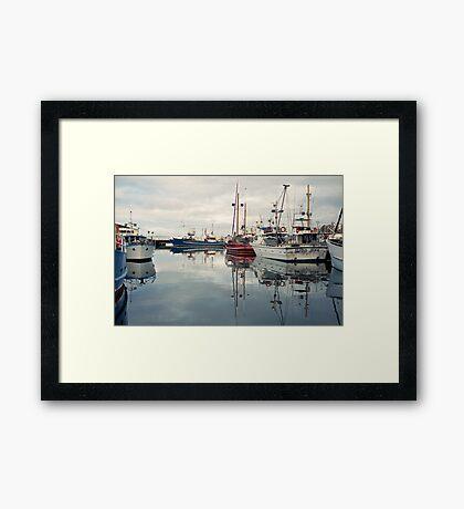 Winter—Victoria Dock, Hobart Framed Print