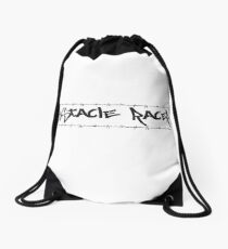 Barbed Wire Obstacle Racer Drawstring Bag
