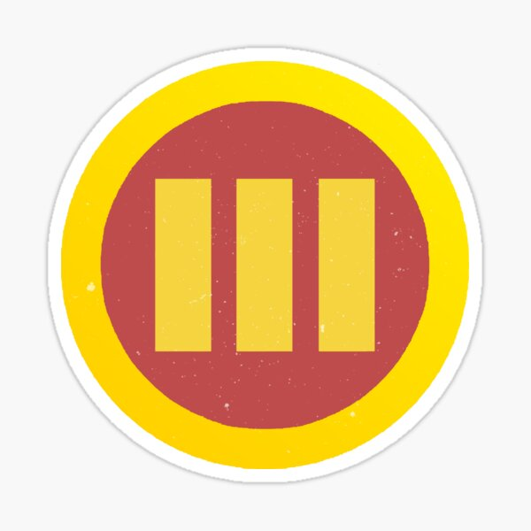 Logic Bobby Tarantino 3 Cover Fan Art Circle Logo Stripes Sticker