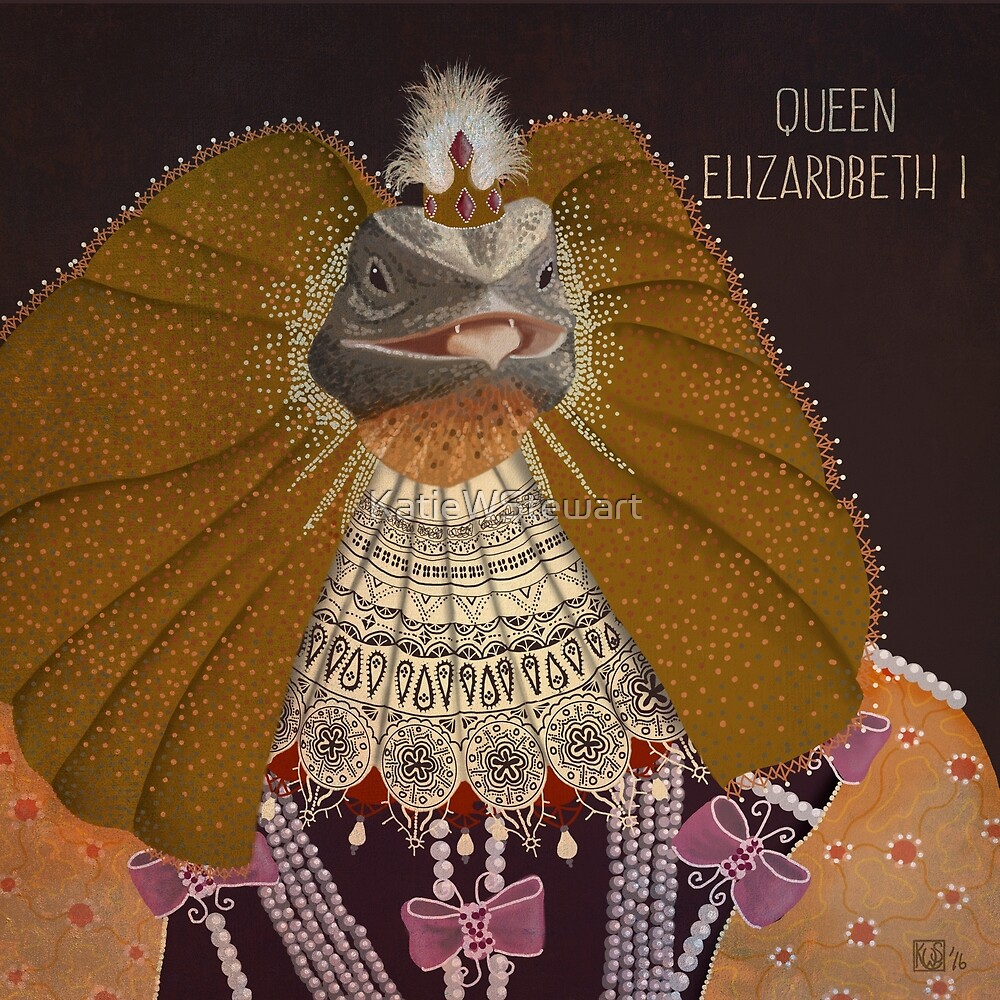 Queen Elizardbeth I by KatieWStewart