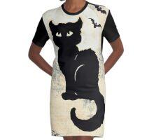 Stray Cat Blues Graphic T-Shirt Dress