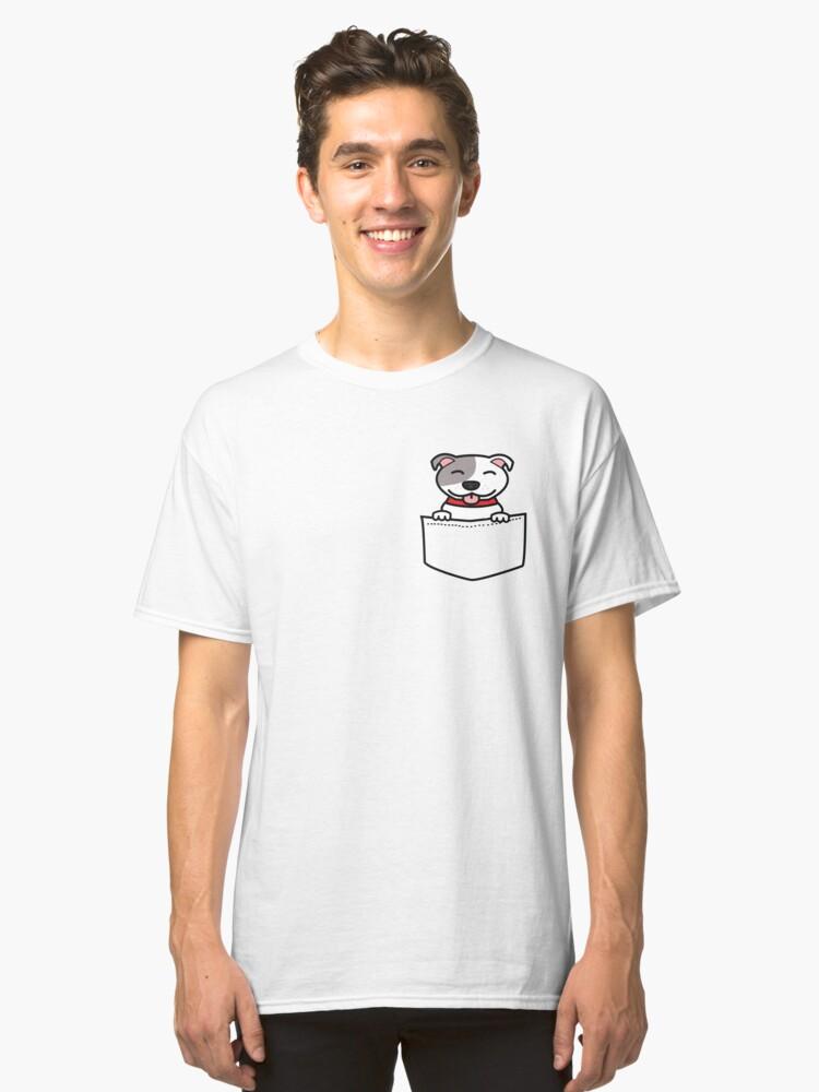 Pocket Pitbull Classic T-Shirt Front