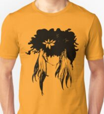 Her mind - an explosion of ink petals  T-Shirt