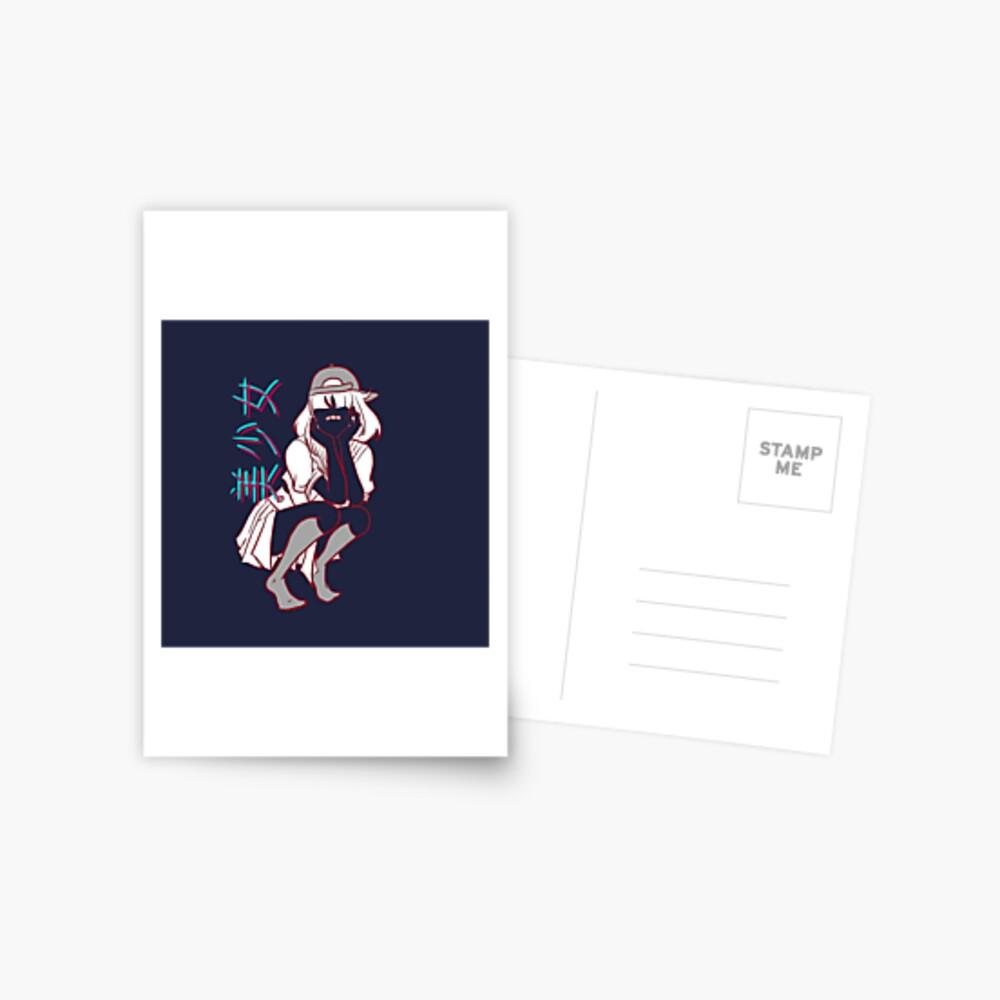 Girl= Postcard
