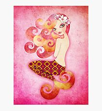 Coraleen, Mermaid in Pink Photographic Print