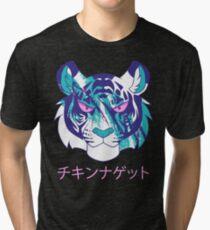 Vaporwave Tiger Tri-blend T-Shirt