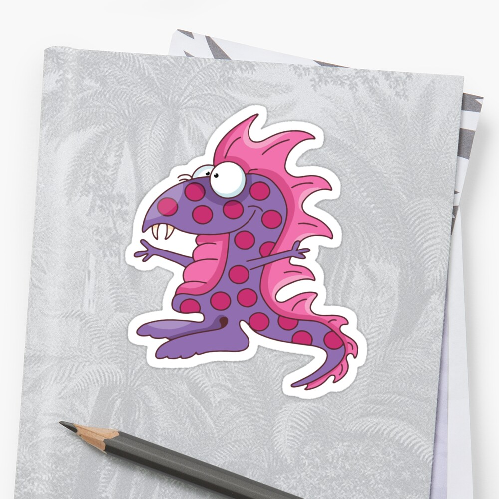 Funny Purple People Eater / Dinosaur by jdubblya