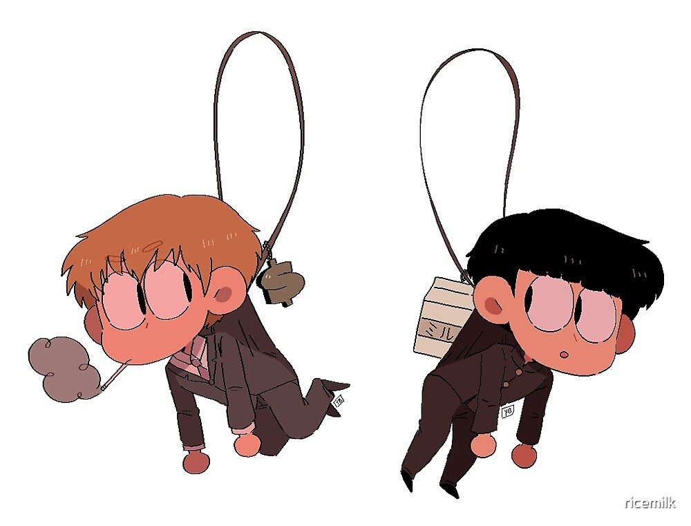 mp100 stickers- reigen and mob by ricemilk