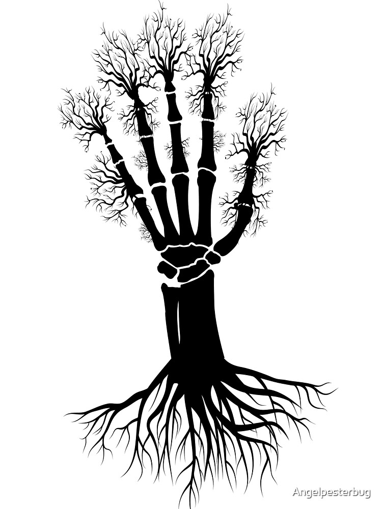 Hand A Bone Tree by Angelpesterbug