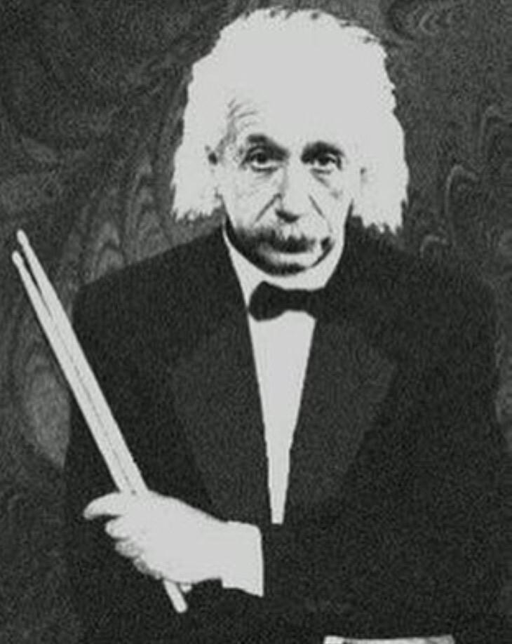 Einstein drumming  by JSPosada