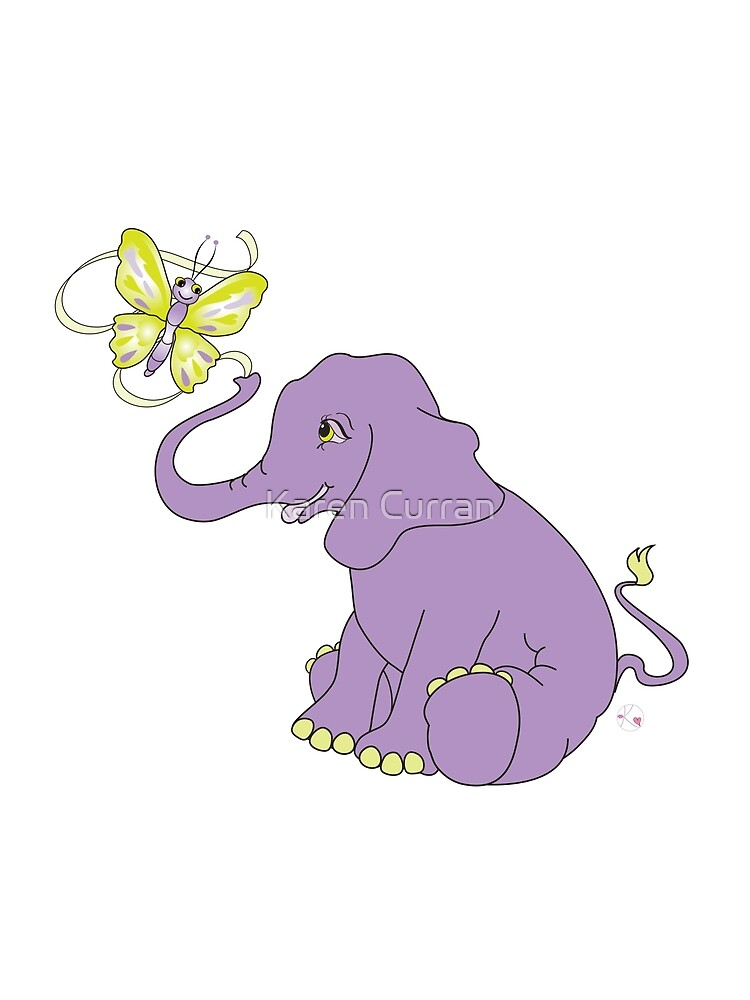 Elephant and Butterfly by Karen Curran