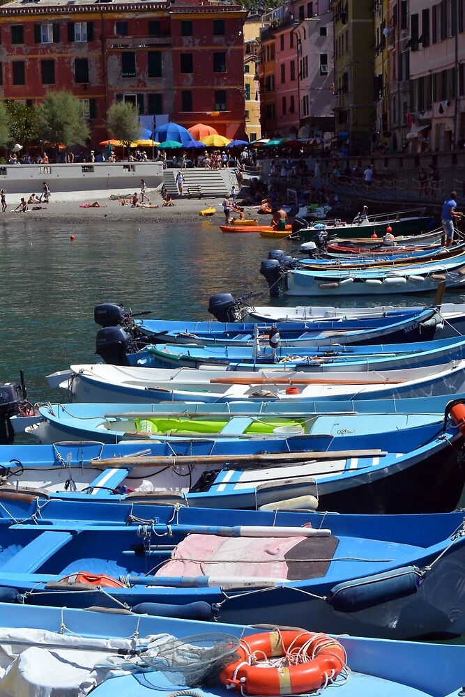 7 August 2016. Photography of boats in the water in Vernazza, Utaly by oanaunciuleanu