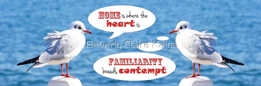 Philosophical Seagulls Home is Where the Heart Is by Beverly Claire Kaiya