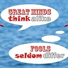 Philosophical Seagulls Great Minds Think Alike by Beverly Claire Kaiya