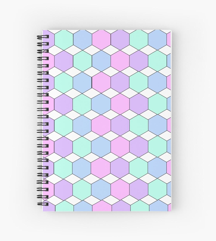 Pastel Hexagon and Diamond Pattern by caeleydann