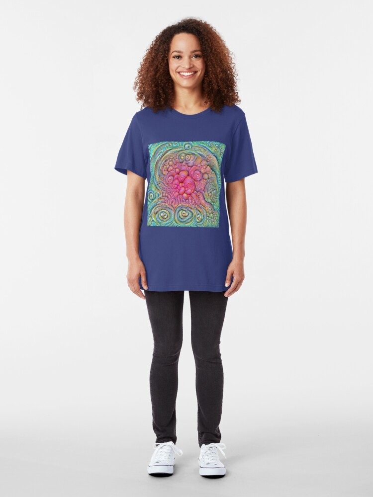 Alternate view of State of matter — Mesophase #DeepDream Slim Fit T-Shirt