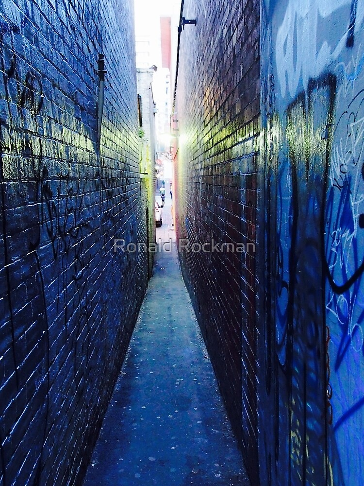 Narrow City Laneway As Night Falls  by Ronald Rockman